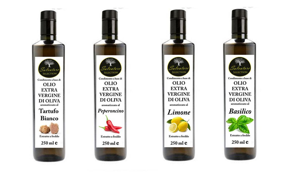 Olio Aromatizzato al Tartufo Bianco - Peperoncino - Limone - Basilico 250ml
